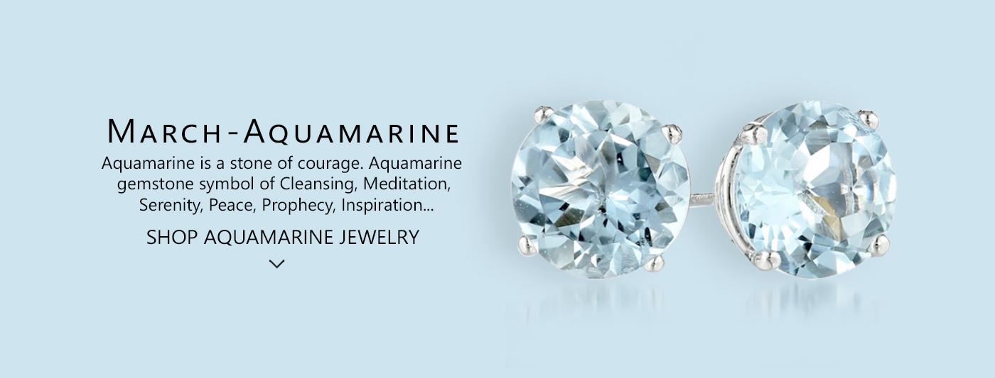 aquamarine march birthstone jewelry